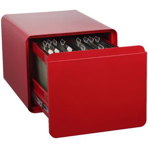 Venturo 1 Drawer Filing Pedestal Red