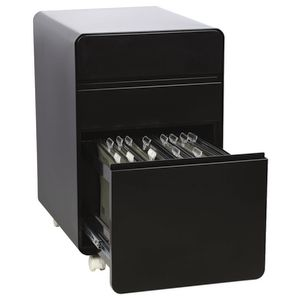 Venturo 3 Drawer Pedestal Black