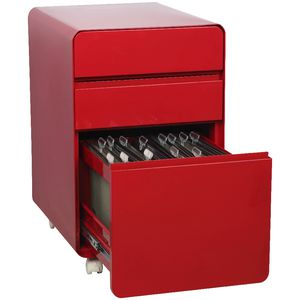 Venturo 3 Drawer Pedestal Red