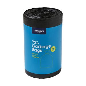 J.Burrows Garbage Plastic Bags 72L 50 Pack