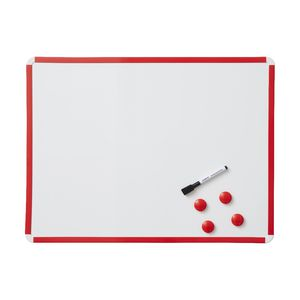 J.Burrows Magnetic Whiteboard 600 x 450mm Red