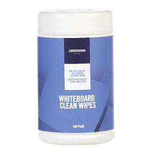 J.Burrows Wet Whiteboard Cleaning Wipes 100 Pack