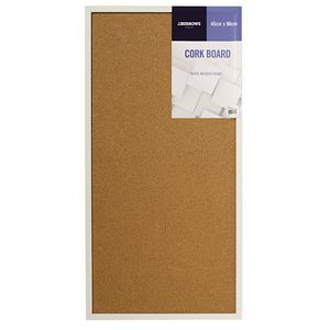 J.Burrows White Wooden Frame Cork Board