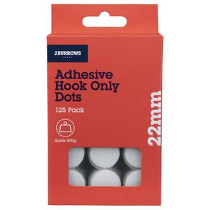 J.Burrows Hook Only Dots 22mm White 125 Pack