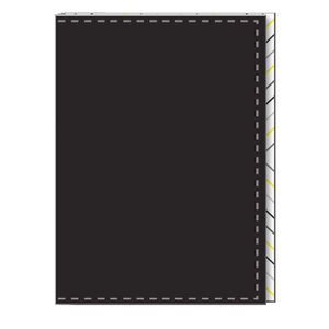 "6 x 8"" Journal Stitched Polyurethane Cover Black 240 Pages"
