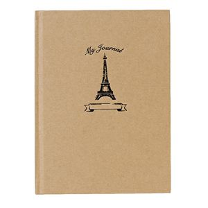 "6 x 8"" Vintage Journal Eiffel Travels 240 Page"