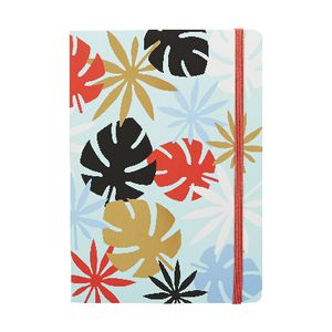 A5 Paper Journal 160 Page Blue Leaves