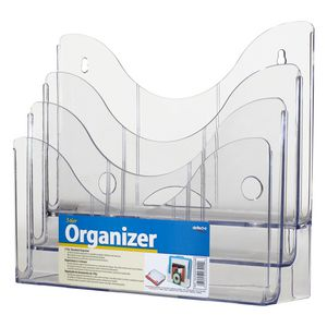 deflect-O 3-Tier Document Organiser Clear