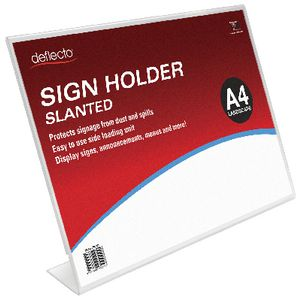 deflect-O Slanted A4 Sign Holder Landscape