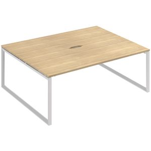 Stilford Professional 2 Person Desk 1800mm White/Oak
