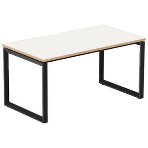 Stilford Professional Desk 1500mm Black/White/Oak