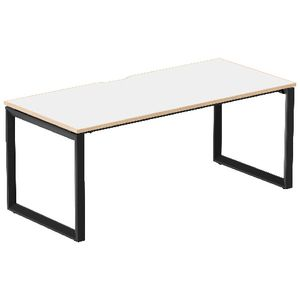 Stilford Professional Desk 1800mm Black/White/Oak