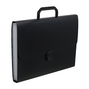 Keji Expanding File 13 Pocket with Handle Black