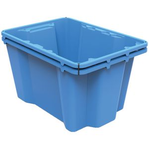 Keji 14L Storage Crate Blue 2 Pack