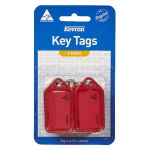 Kevron ID5 Key Tags Red 4 Pack