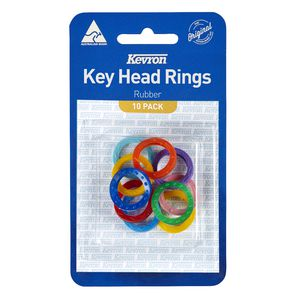Kevron Key Head Rings Assorted 10 Pack at Officeworks in Campbellfield, VIC | Tuggl