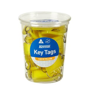 Kevron ID5 Key Tags Yellow 50 Pack