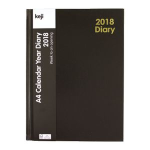 Keji A4 Week to View 2018 Hardcase Diary