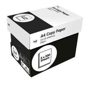 Keji 80gsm A4 White Copy Paper Carton