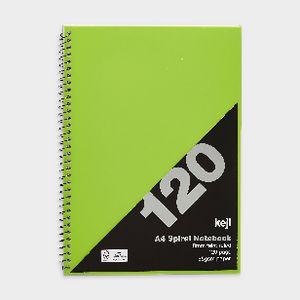 Keji A4 PP Notebook 120 Page Green