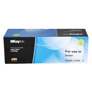 Keytek Brother TN255 Toner Cartridge Cyan