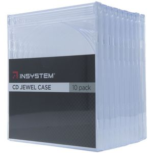 InSystem Jewel CD Case Clear 10 Pack