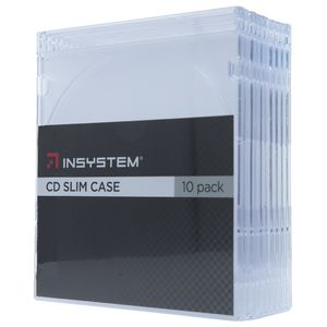 InSystem Slim CD Cases Clear 10 Pack