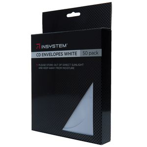 InSystem CD Envelopes White 50 Pack