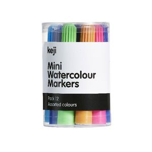 Keji Mini Jumbo Coloured Markers 12 Pack
