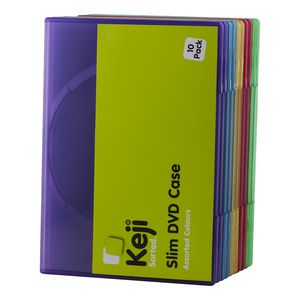InSystem DVD Slim Assorted Colours 10 Pack