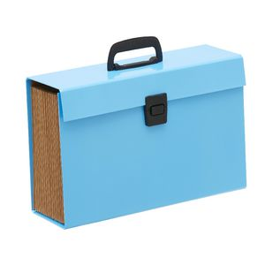 Keji Expanding File Foolscap 19 Pocket Blue