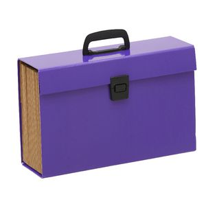 Keji Expanding File Foolscap 19 Pocket Purple