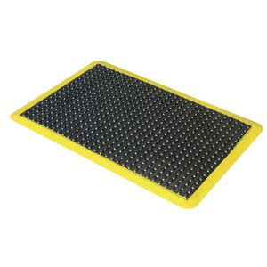 Mattek Ergo Tred Anti-Fatigue Mat Black with Yellow Border