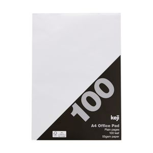 A4 Office Pad Plain 100 Leaf