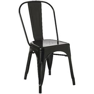 Steel Stacking Chair Gloss Black