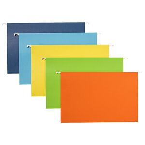 Keji Foolscap Suspension File Assorted Colours 20 Pack