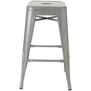 Steel Stacking Stool Gloss Silver