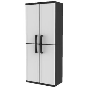 Keter 4 Shelf Cabinet Grey