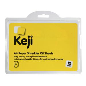 Keji A4 Shredder Oil Sheets 12 Pack