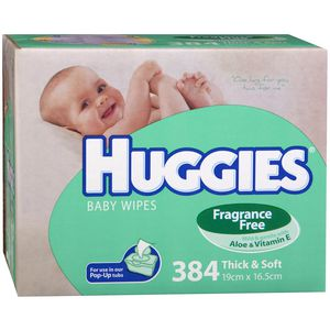 Huggies Fragrance Free Baby Wipes 384 Pack