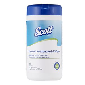 Scott Alcohol Antibacterial Wipes