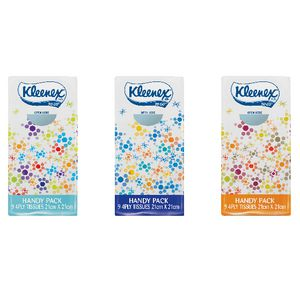 Kleenex 9 Sheet Pocket Facial Tissues 144 Pack