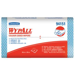 WyPall Colour Coded Wipes 60 x 30cm 12 Pack Blue