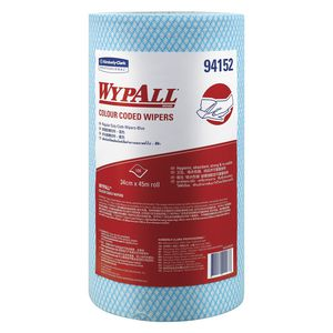 WyPall Colour Coded Wipe Roll 45m 6 Pack Blue