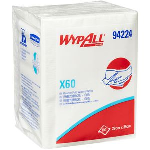 WyPall X60 Single Sheet Wipes White 100 Sheets