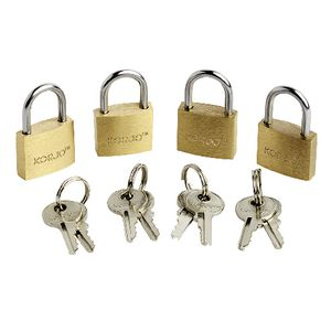 Korjo Brass Luggage Locks 20mm 4 Pack