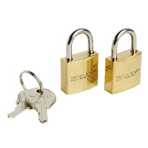 Korjo Brass Luggage Locks 20mm 2 Pack