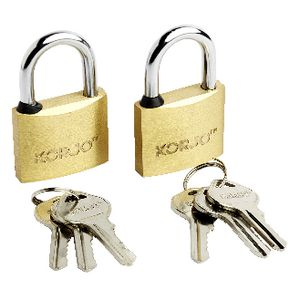 Korjo Brass Luggage Locks 40mm 2 Pack
