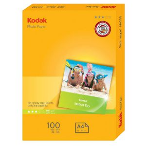 Kodak A4 Gloss Photo Paper 100 Pack