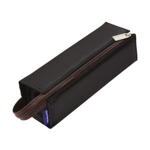 Kokuyo Single Zip 2 in 1 Pencil Case Tray Black